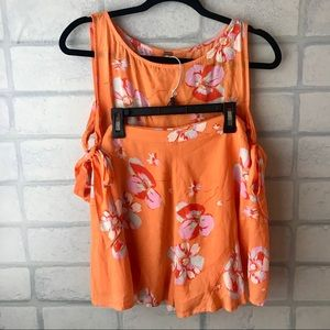 Free People Floral Two Piece Set